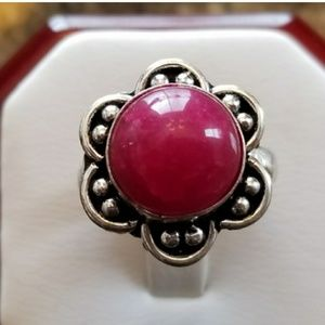 5ct Natural Ruby Cabochon Ring Size 7